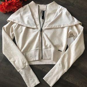 Women's MonDetta Oatmeal color Hooded Jacket-Sz XS